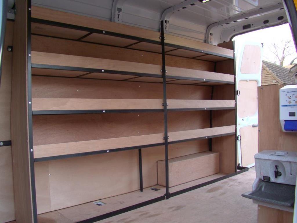 metal framed racking for vans 2 organizers pinterest. Black Bedroom Furniture Sets. Home Design Ideas