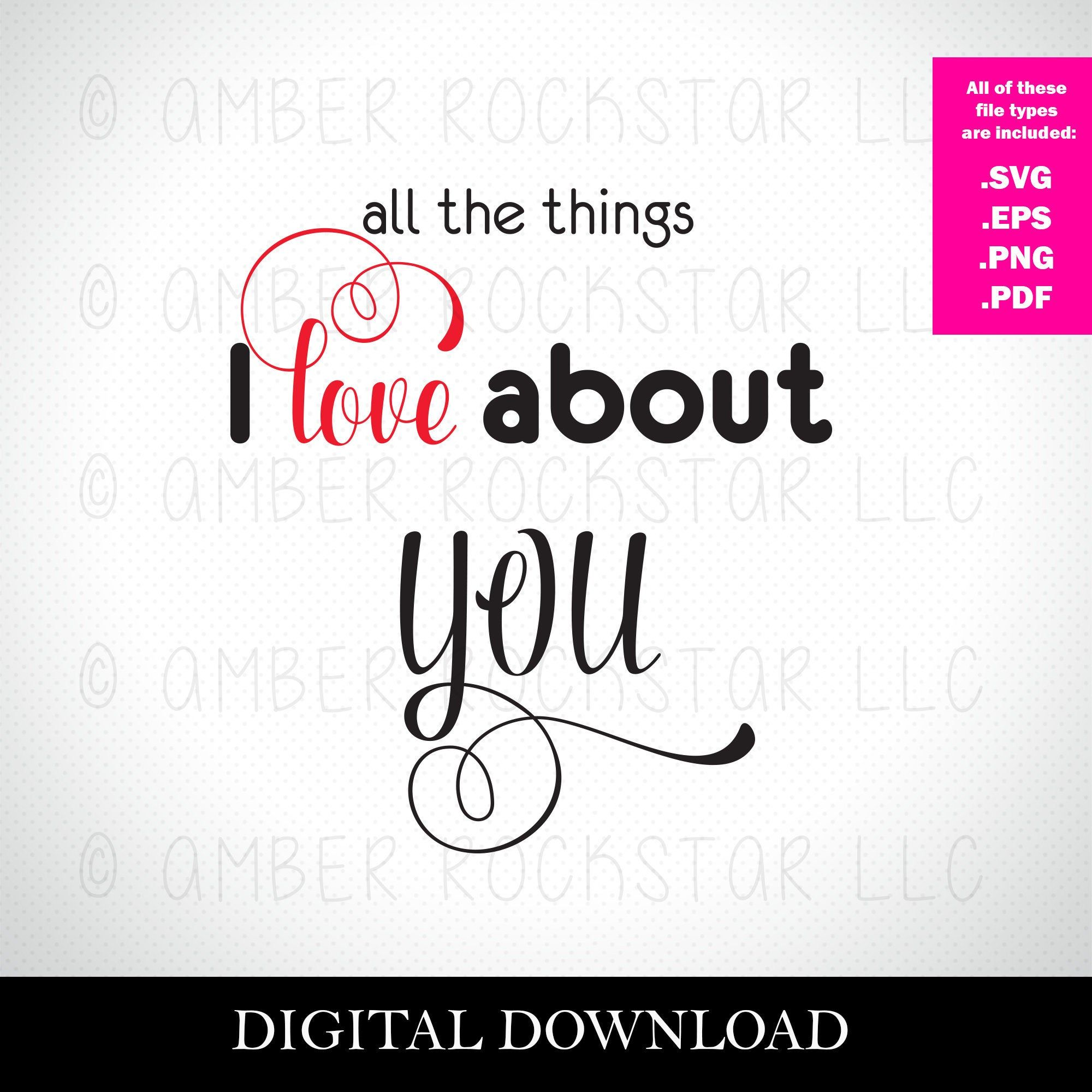 Download Digital Instant Download - SVG File - All the Things I ...