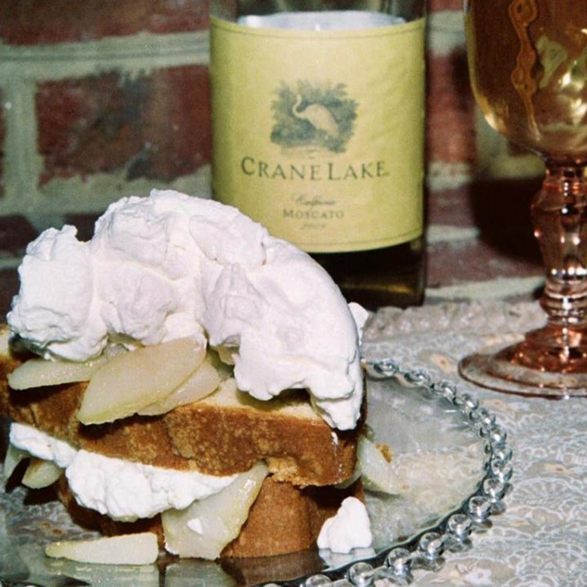 Vanilla Pound Cake W A Moscato Wine Pear Syrup