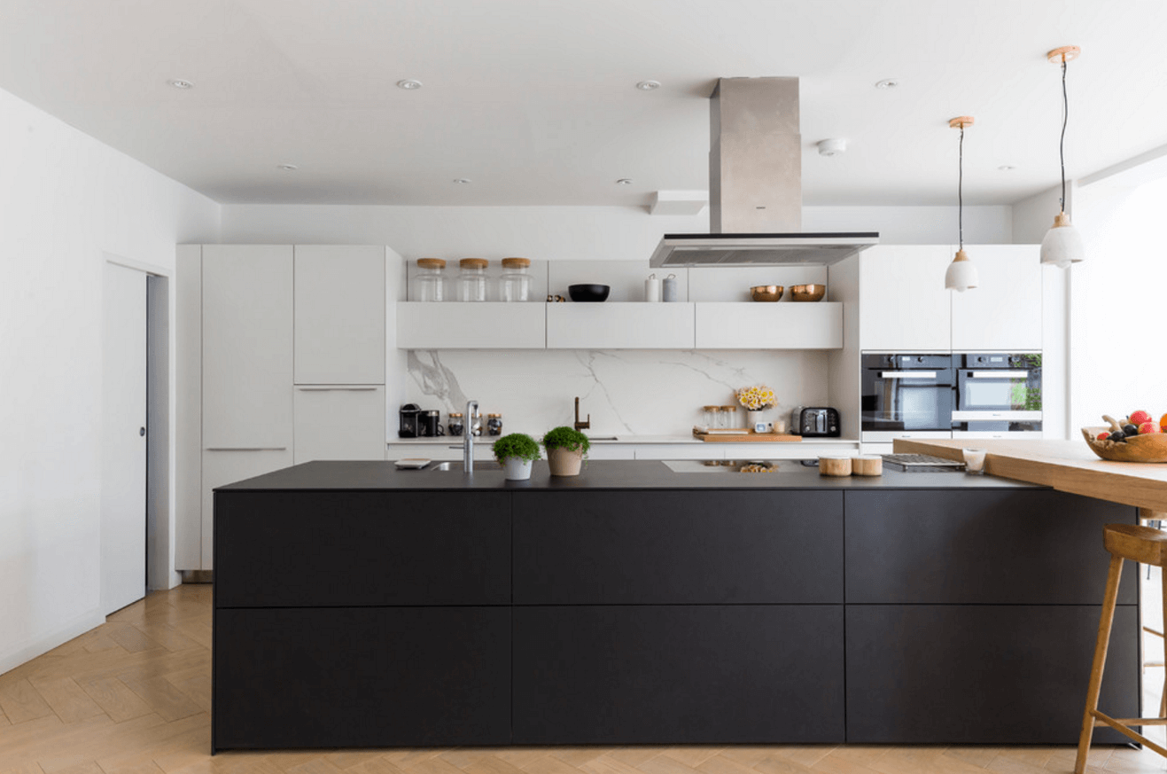 31 Black Kitchen Ideas For The Bold Modern Home Modern Black Kitchen Modern Kitchen Cabinets Black Kitchens