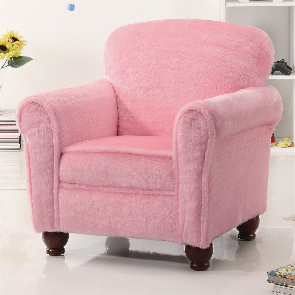 Modern Coaster Kids Bedroom Chair Pink Armchair Soft Seat Cushion Accent Chair Kids Lounge Chair Upholstered Accent Chairs Kids Chairs