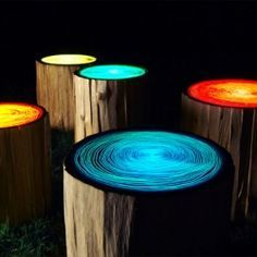 cool outdoor lighting. not only do these tree stump lights provide cool outdoor lighting but they would also pinterest