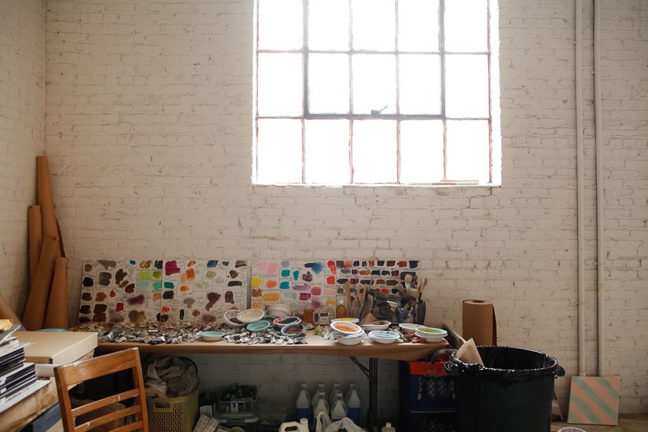 Rebecca Morris studio // In The Make