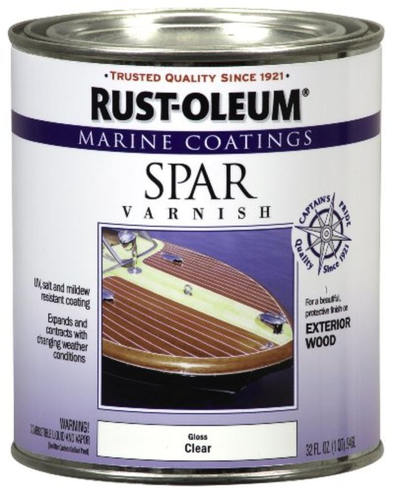 Details About Rustoleum Clear Gloss Marine Spar Varnish Boat Paint Wood Uv Protector 1 Quart