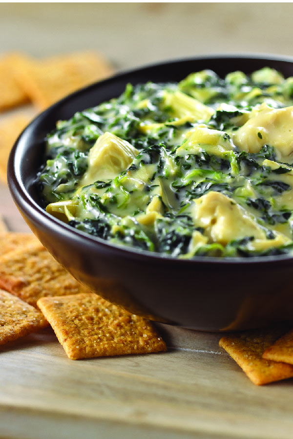 VELVEETA Queso Blanco Spinach & Artichoke Dip – This 15-minute VELVEETA Queso Blanco Spinach & Artichoke Dip is a appetizer recipe trifecta. You're making everyone's top three favorite dips—all in one tasty bowl!