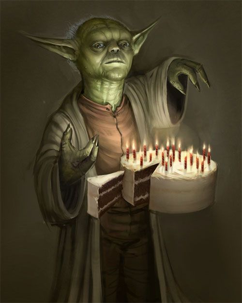 24 Cool Yoda Of Starwars Illustrations Happy Birthday Meme