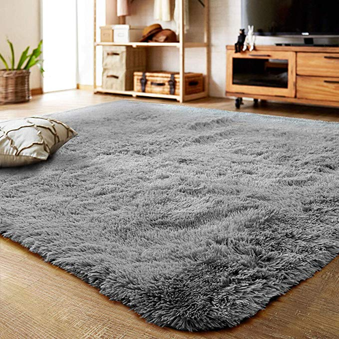 Ultra Soft Indoor Modern Area Rugs Fluffy Living Room Carpets