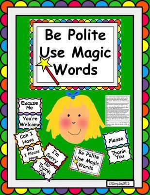 Be Polite Use Magic Words for Primary Grades from Joy from Joy on ...