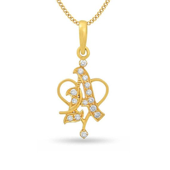 Diamond initial pendant diamond letter a pendant diamond alphabet beautiful letter a diamond pendant is made in 18k gold it is completely handmade and can be wear with any chain the diamond initial pendant letter s aloadofball Images