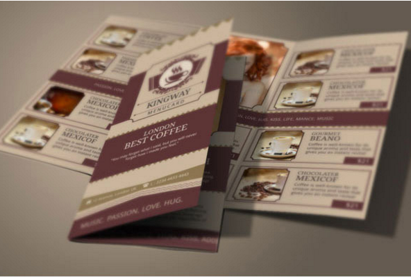 Coffee Shop Brochure Template Premium Coffee Menu Templates By Coffee Shops  In London