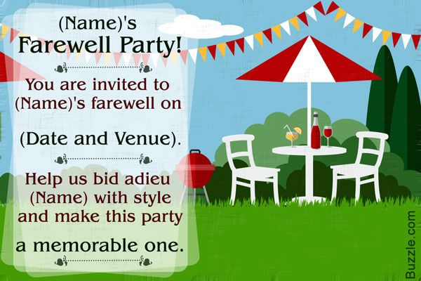 10 Farewell Party Invitation Wordings to Bid Goodbye in Style - farewell party invitation template