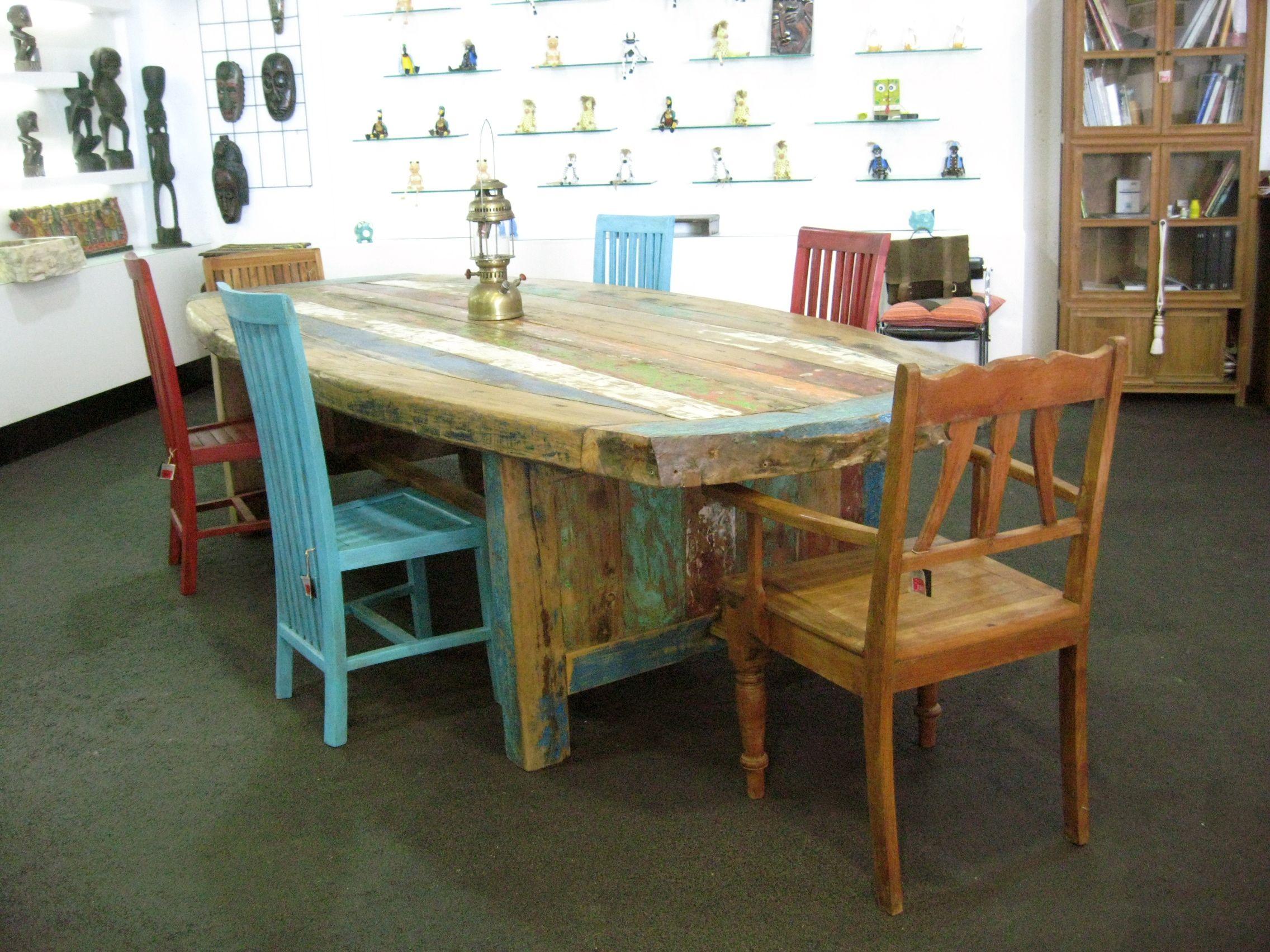 Mesa comedor maderas de barco recicladas. | Proyectos Casa | Vintage ...