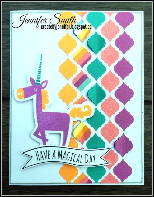 Close To My Heart Card Making Ideas Part - 40: Create By Jennifer: Magical Day Close To My Heart Little Dreamer Cardmaking  Stamp + Thin