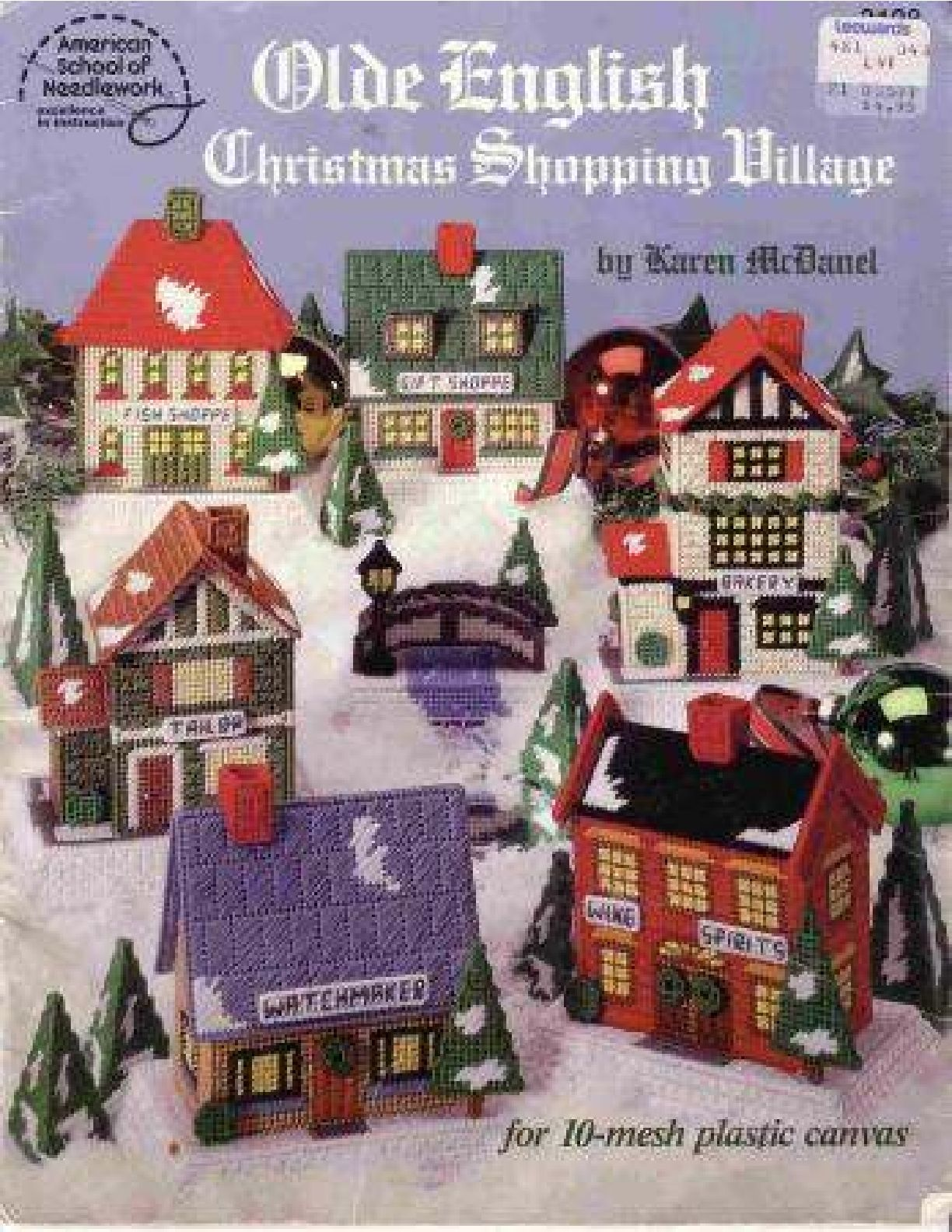 Plastic Canvas Leaflets Christmas Santa Villages Cows YOU CHOOSE with mesh