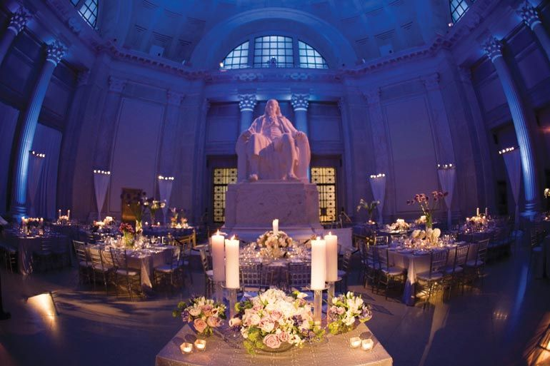 30 Stunning Venues For Your Non Country Club Wedding Franklin Institute WeekPhiladelphia