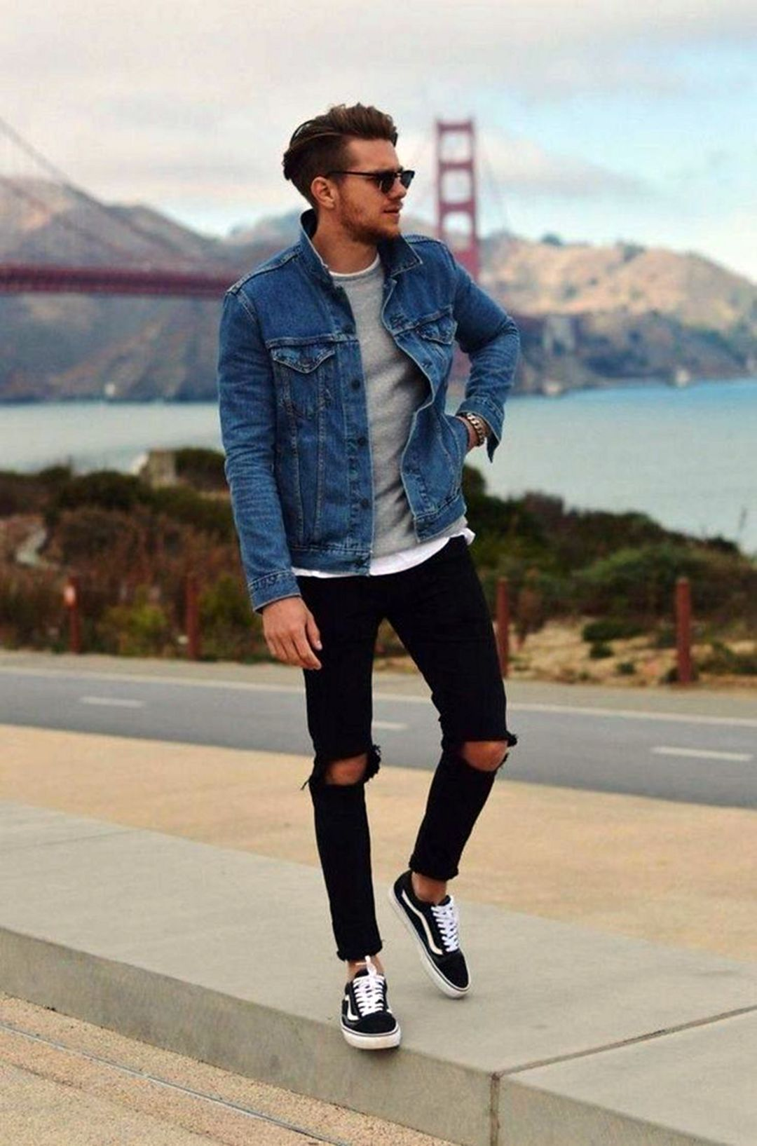 10 Cool Men S Outfits Ideas That Are Trend 2020 Fashions Nowadays In 2020 Sneakers Outfit Men Mens Outfits Denim Jacket Men