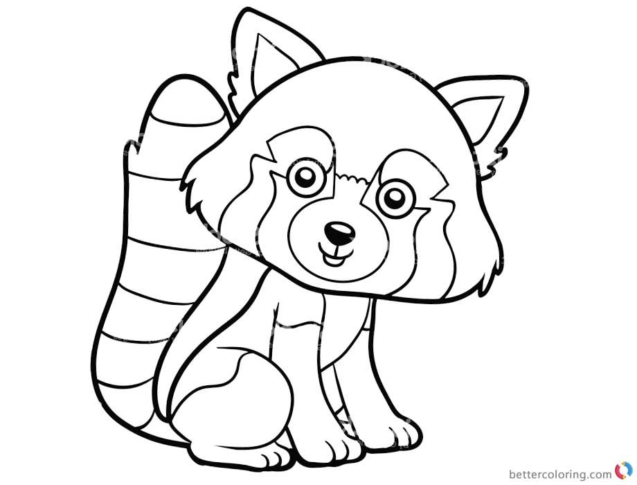 Red Panda Coloring Sheet In 2020 Panda Coloring Pages Puppy