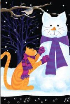 Snow Cat In The Winter For The Past Several Years My Husband I Have Made Snow Cats Instead Of Snow Men Christmas Cats Cat Art Cats Illustration