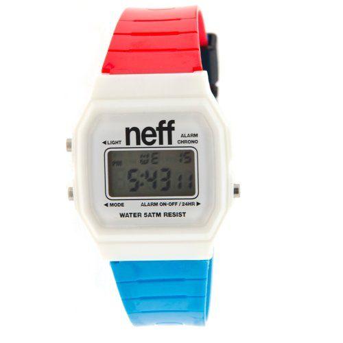 Neff Men's F11704-Pink Old School Flava Pink Watch: Watches: Amazon.com