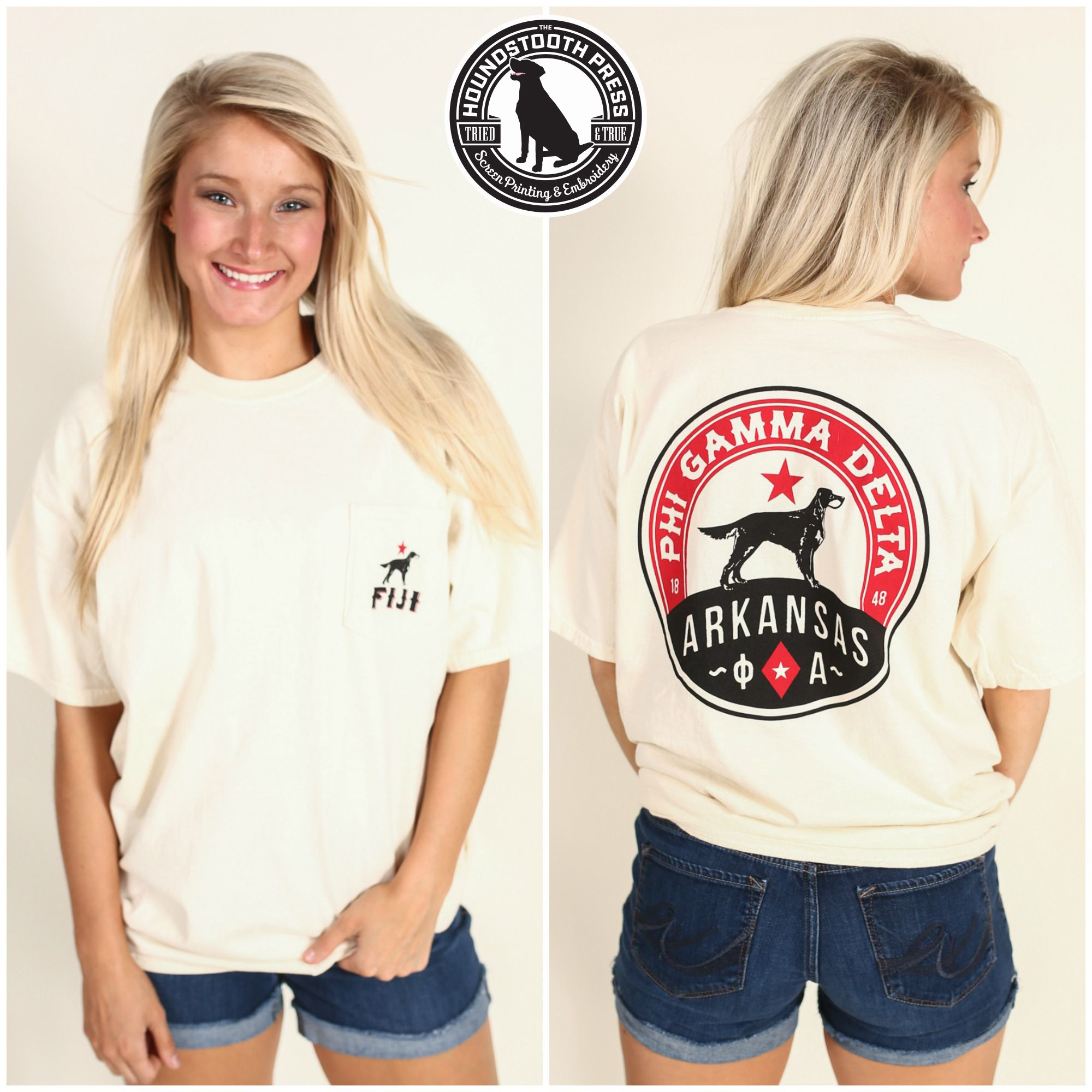 Design t shirt comfort colors - University Of Arkansas Fiji Promotional T Shirt Comfort Colors Ivory Love The