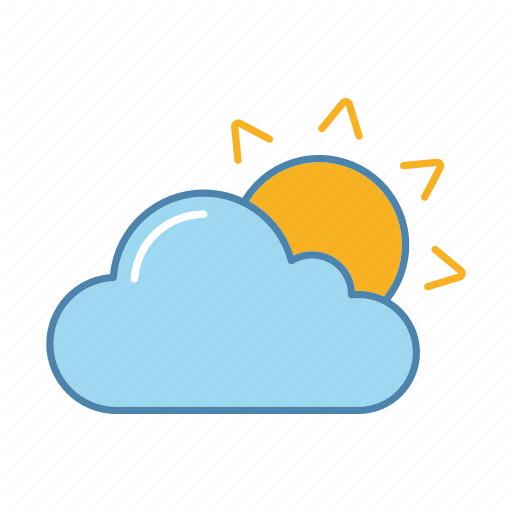 Cloud Cloudy Sun Sunny Sunrise Sunshine Weather Icon Download On Iconfinder Weather Icons Icon Sunshine Weather