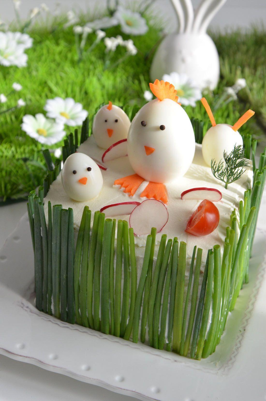 Sandwich-cake de Pâques au saumon fumé | Recette | Recettes de pâques, Repas de paques et Entrée ...