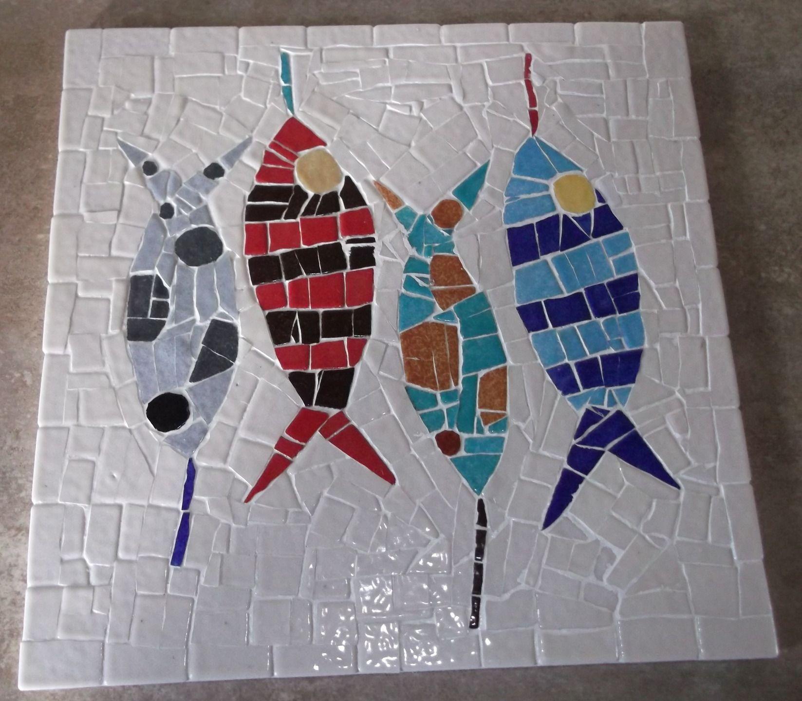 Dessous de plat les poissons cuisine et service de table par musaic mosaique mosaique - Modele poisson ...