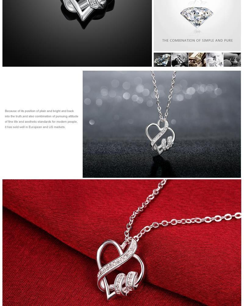 N715 women heart shape chain necklace