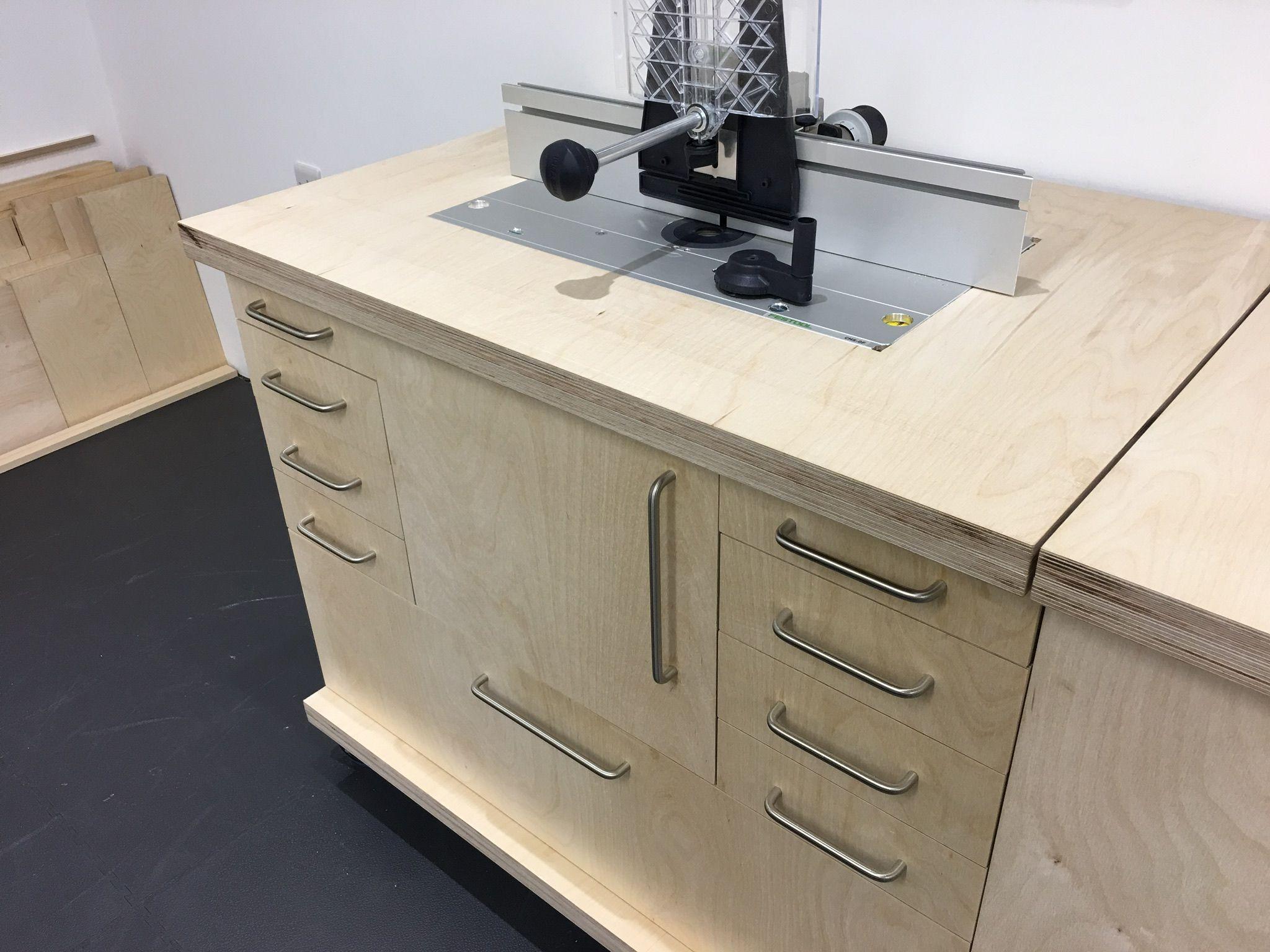 Festool cms custom router table for new workshop atelier for Table festool