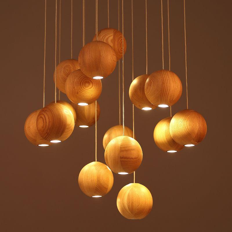 Lamparas de madera modernas buscar con google lamps - Ver lamparas de techo modernas ...