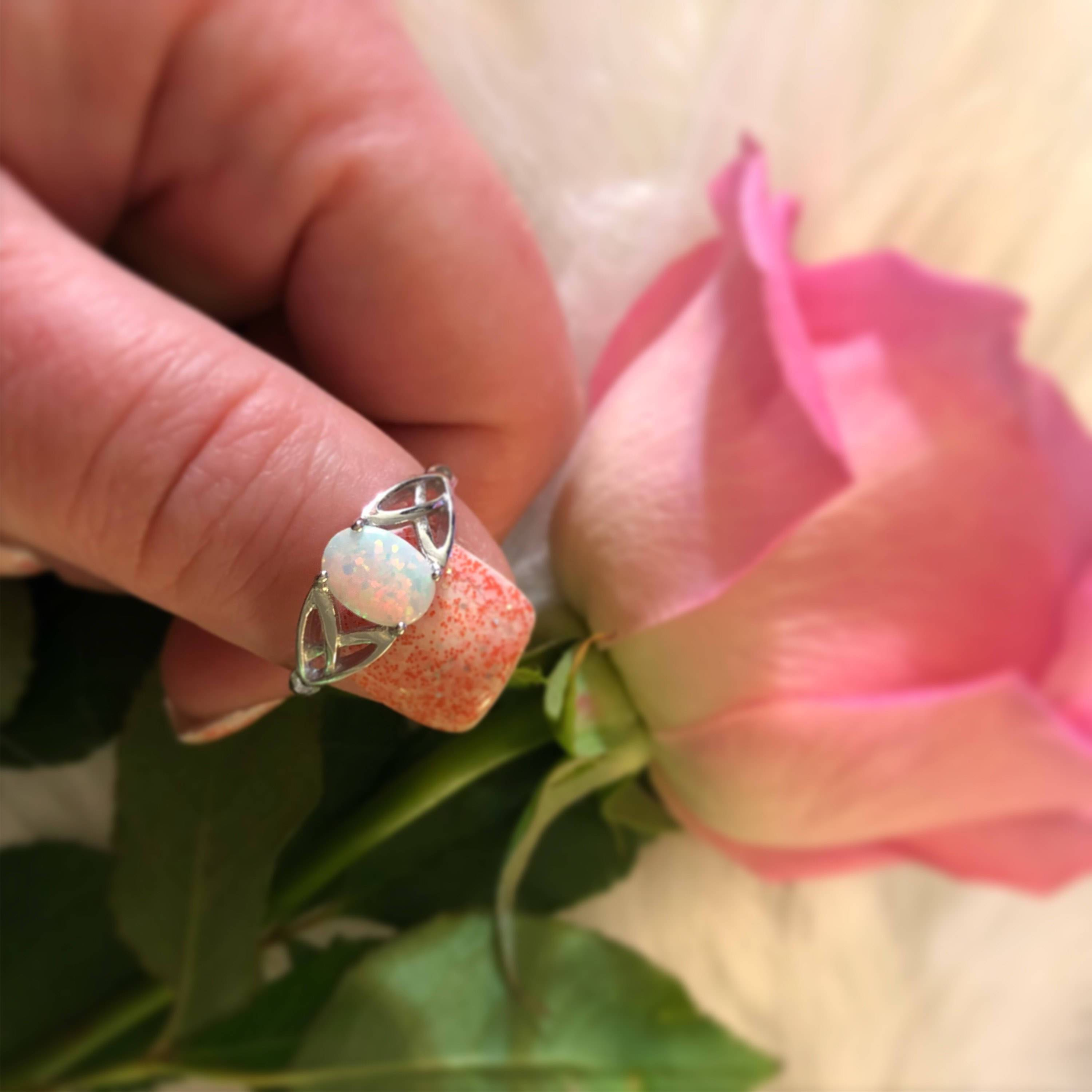 Celtic Opal Ring | Opal rings, Ring and Free gifts