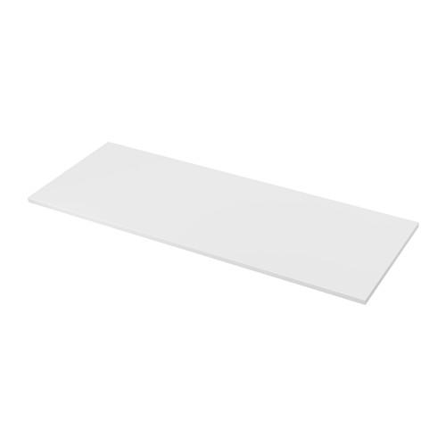 Ekbacken Countertop Double Sided With White Edge Light Gray Light Gray White Laminate White 98x1 1 8 Laminate Countertops Countertops White Laminate