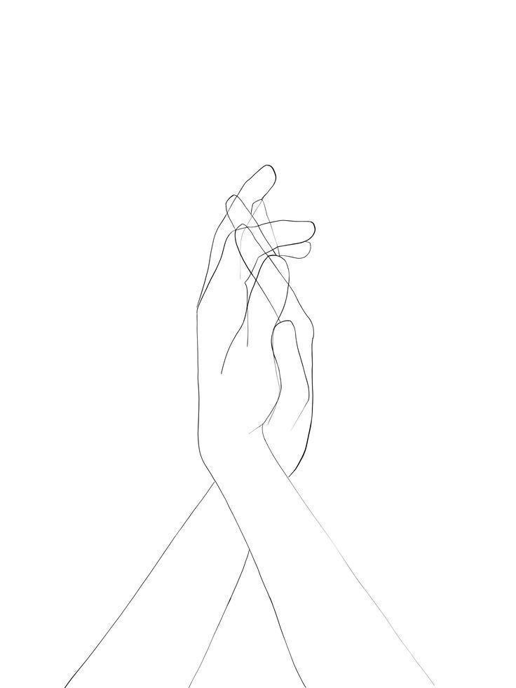 Photo of Händchenhaltende Strichzeichnungen – Händchenhaltende Strichzeichnungen # Hän …
