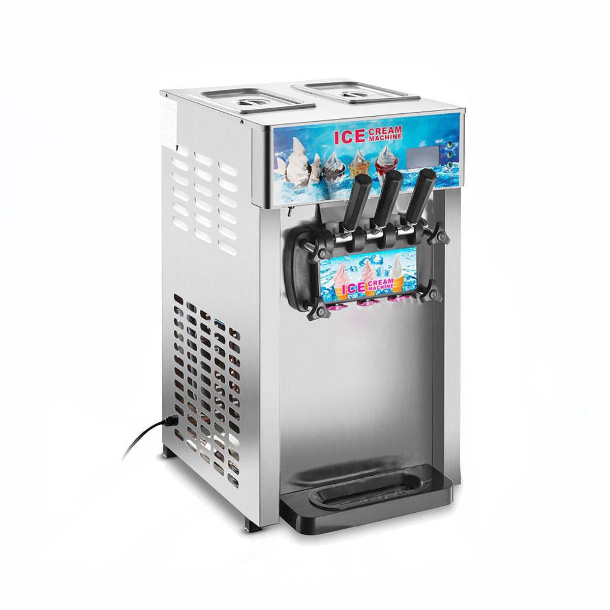 220v 1200w 3 Flavor Commercial Frozen Ice Cream Cones Machine Soft