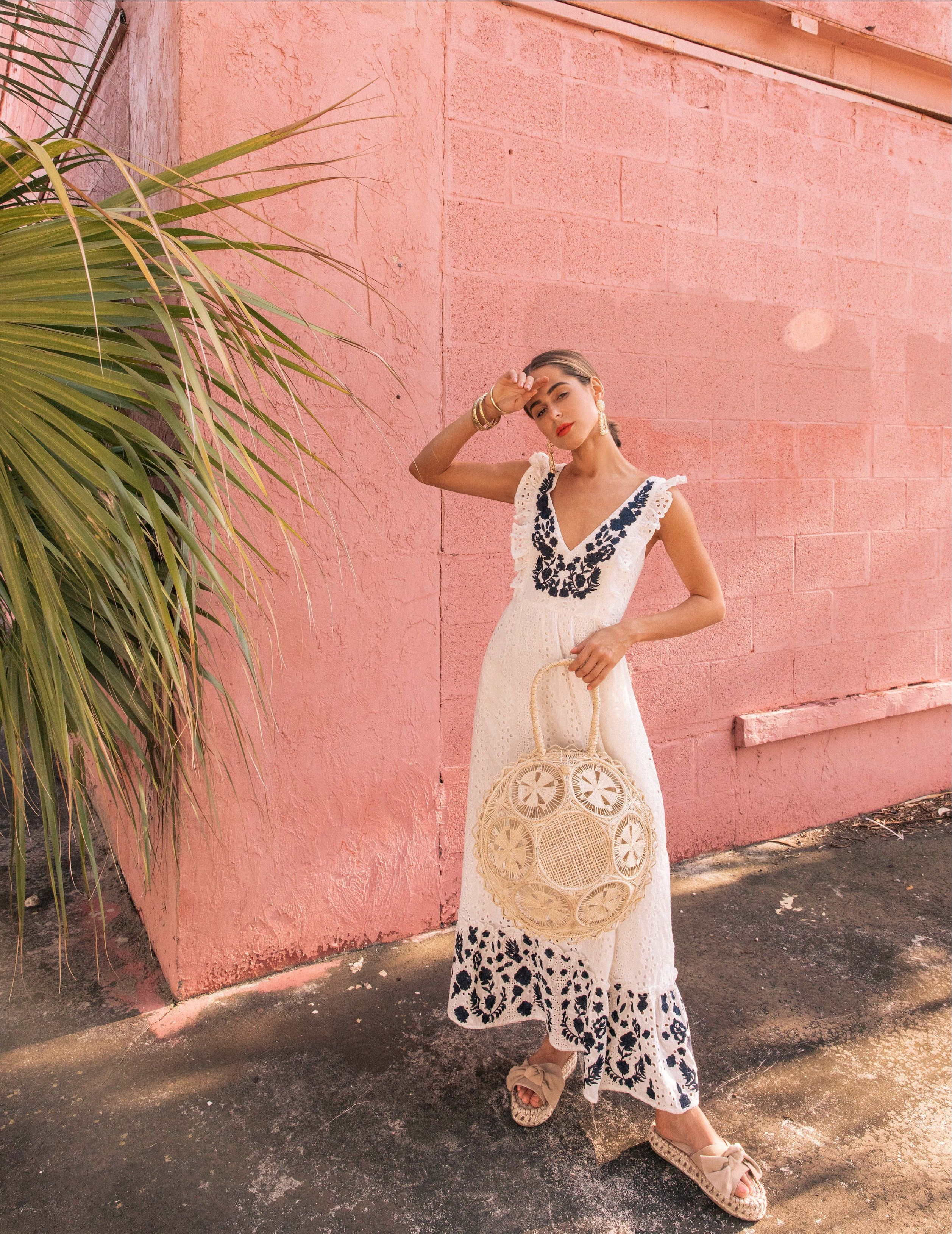 2386e10bb Embroidered Eyelet Midi Dress in 2019 | Maxi & Midi Dresses ...