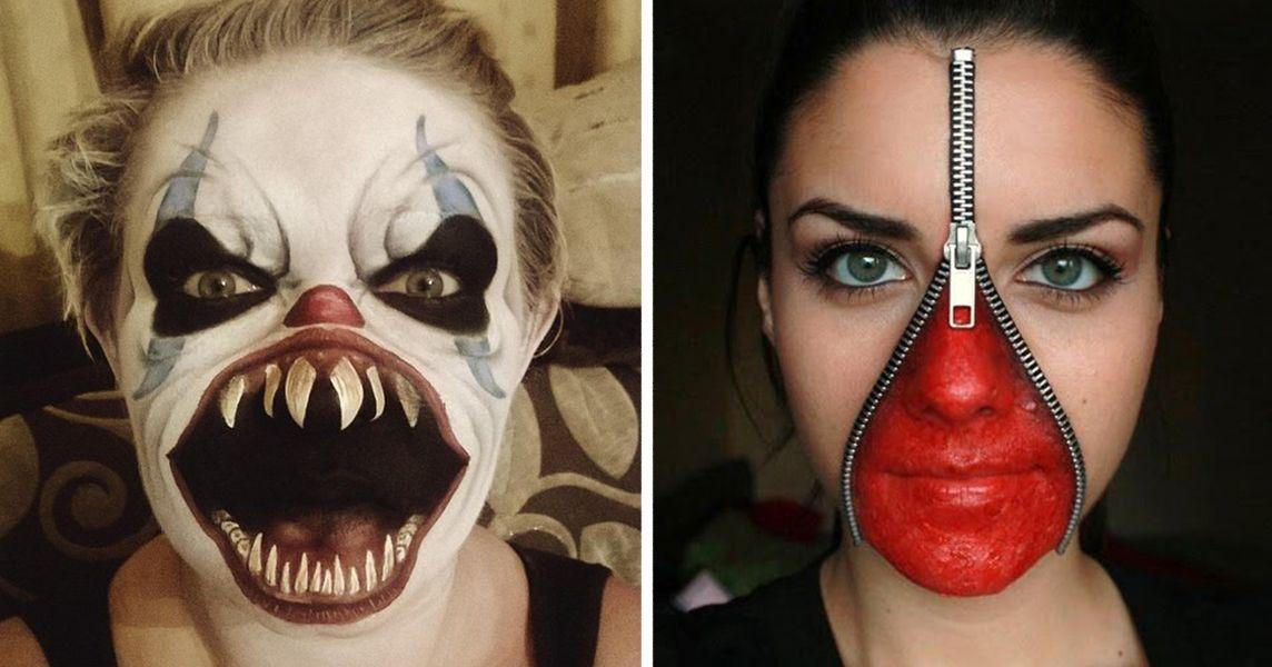 20+ Of The Creepiest Halloween Makeup Ideas Creepy halloween - terrifying halloween costume ideas