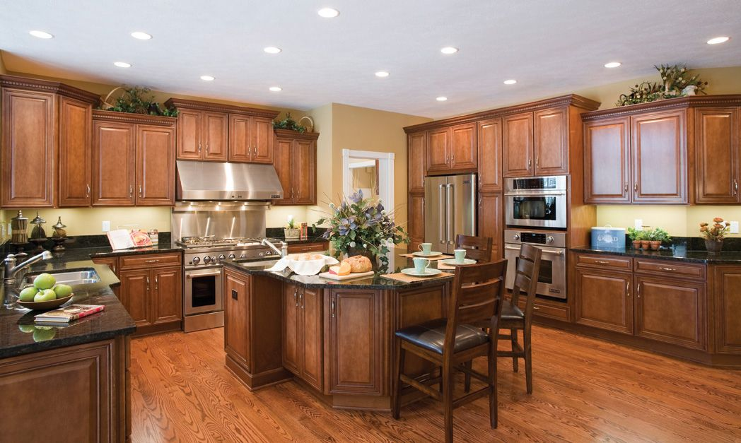 Large gourmet kitchen with oversized island
