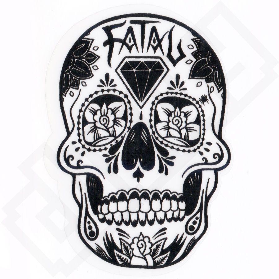 Fatal Mexican Skull Tattoo Skate Art Graffiti Sticker Decal Skate Kleurplaten Voor Volwassenen Schedel Tatoeage Ideeen