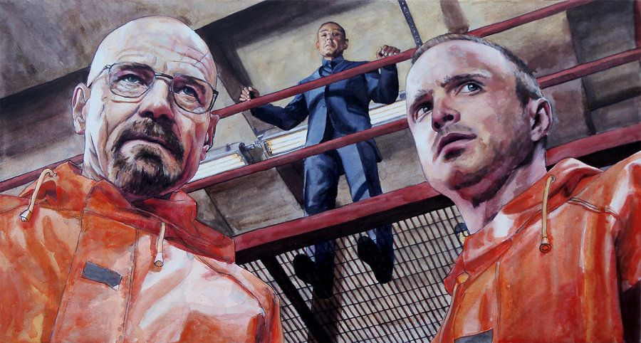 Walt, Gus, and Jesse from Breaking Bad by ~thegryllus on deviantART