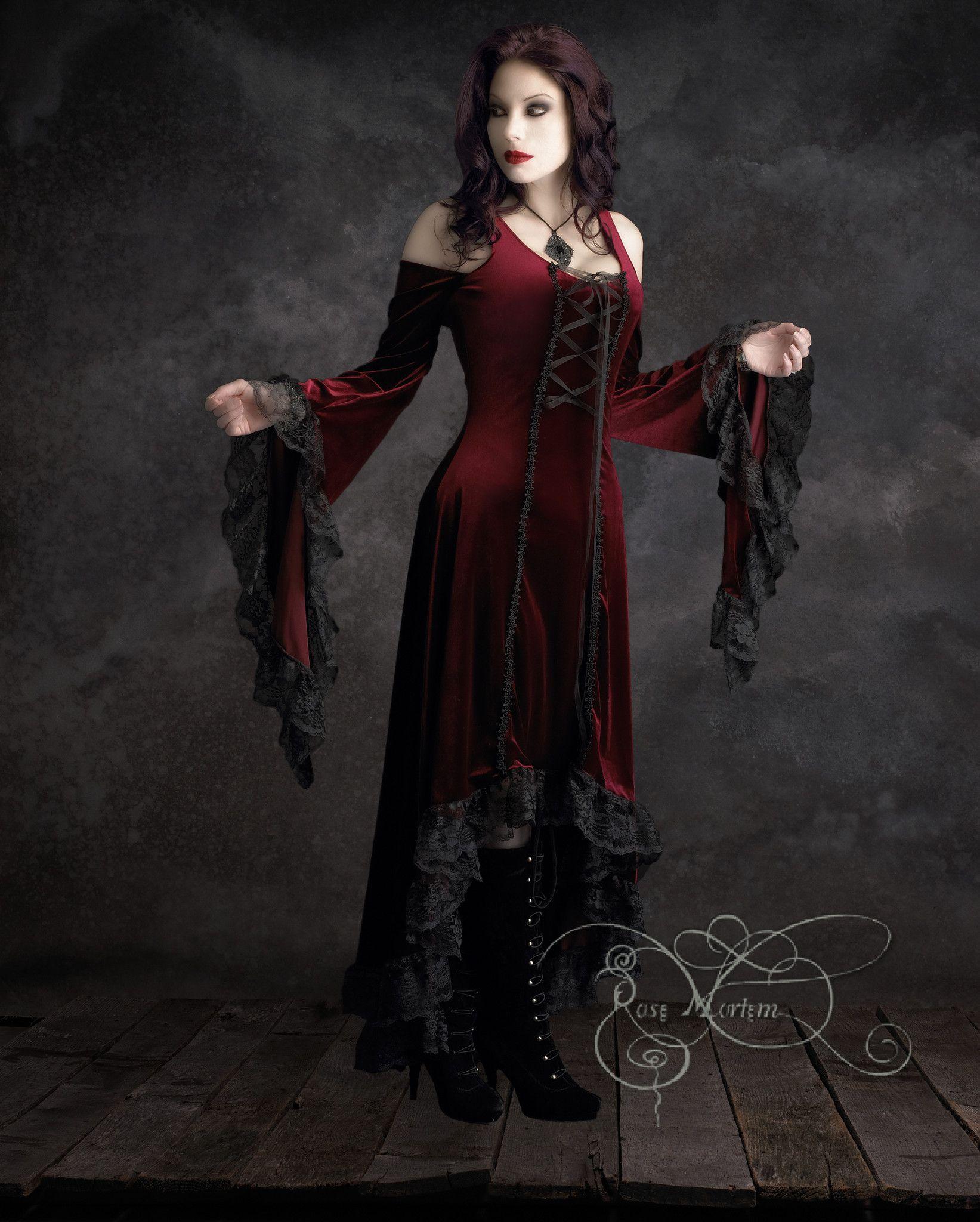 Aislinn Gothic Dress W Hood Handmade Gothic Clothing Dark