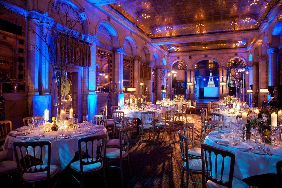 Criterion London Classic blue wedding, Venues