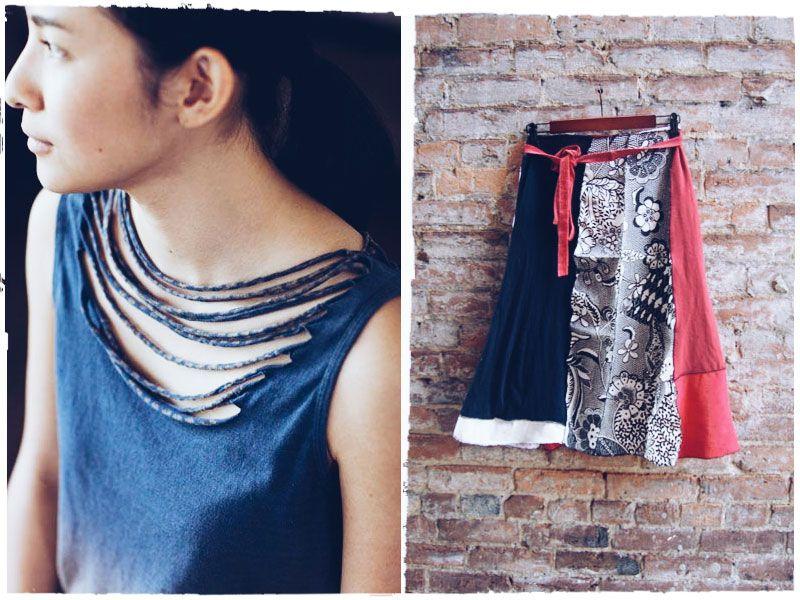 Из старых футболок: украшения, одежда, предметы интерьера. T-shirt recycling. / www.minchanka.by