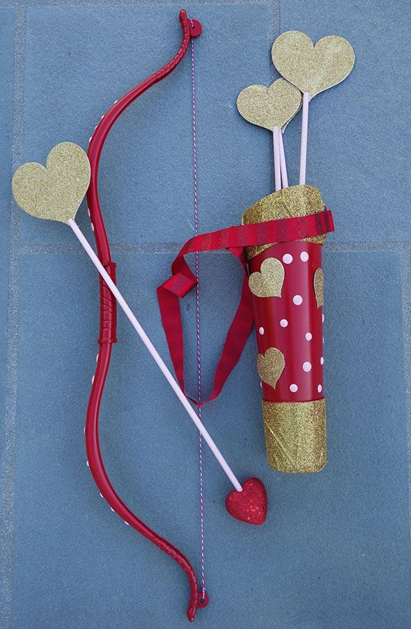 Cupid Cupids Bow And Arrow Set Heart Love Valentine/'S Day Costume Accessory
