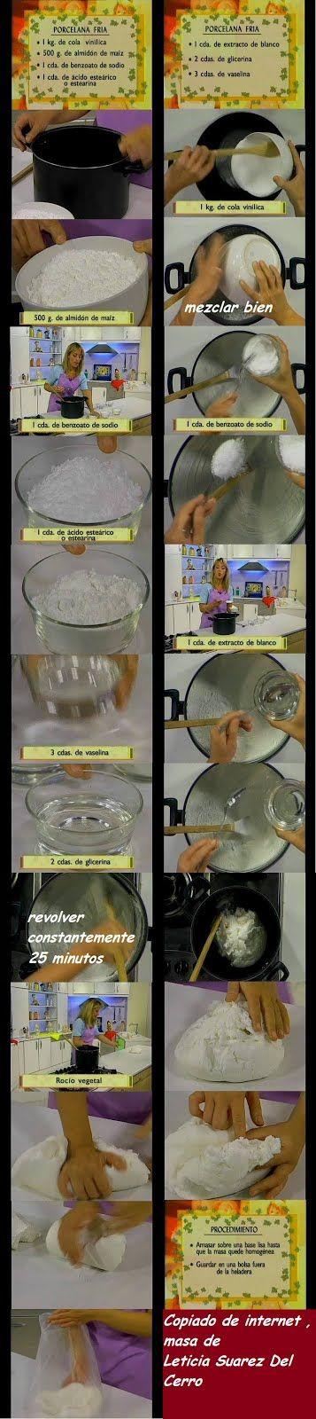Como Hacer La Masa De Porcelana Fria Por Leticia Suarez Del Cerro Porcelana Fría Porcelana Manualidades