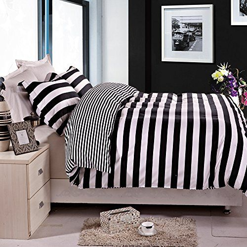 NEW Black Collection Various Modern Designs Printed Reversible Bedding All Sizes