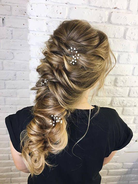Gypsophila hair pin Baby breath hair accessories Wedding hair   Etsy