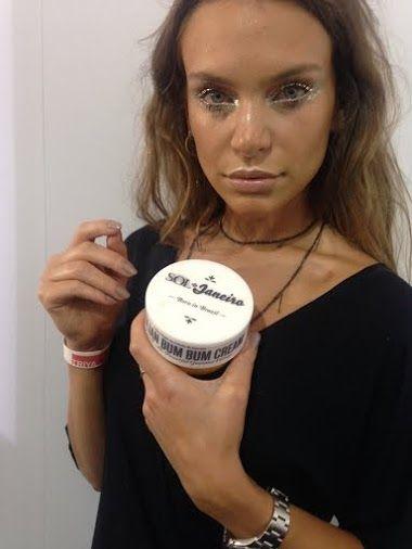 Beautiful Brazilian Model Natalia Zambiasi with our Bum Bum Cream Backstage at São Paulo Fashion Week Summer 2016