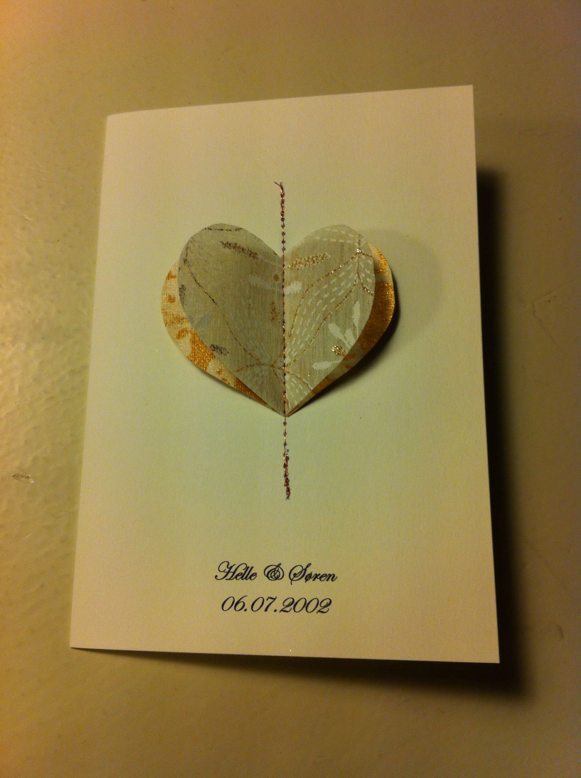 Invitation Til Kobberbryllup Made By Me Kort Og Godt Cards