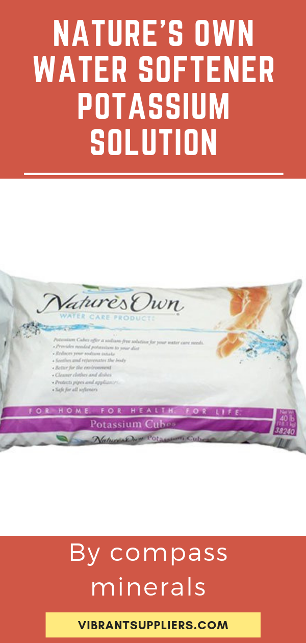 Nature S Own Water Softener Potassium Solution Water Softener Water Softener Salt Softener