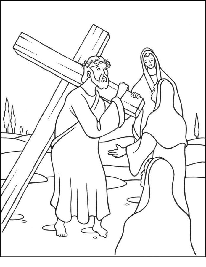 Jesus stationen des kreuzes ausmalbilder #ausmalbilder #